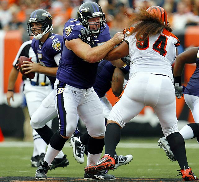 Enigmatic lineman wore out his welcome in Baltimore.   UPDATE: Gaither agrees to deal with Oakland Raiders.