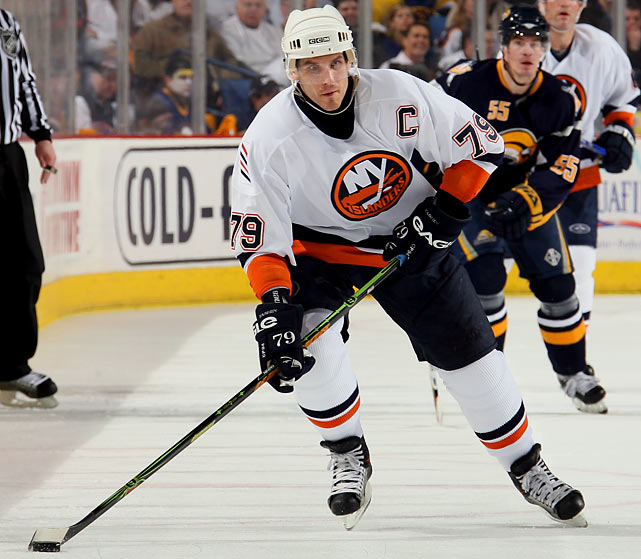 Another case of choice blocked by circumstance. After his trade to the New York in 2001, Yashin wanted to keep the 19 he had worn in Ottawa, but on Long Island it was the exclusive property of Hall of Famer Bryan Trottier. So Yashin chose 79, consoling himself with the thought that the 7 looked somewhat like a 1.