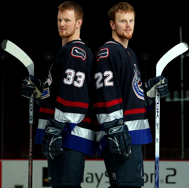 It's only natural that twins would wear twin numbers.