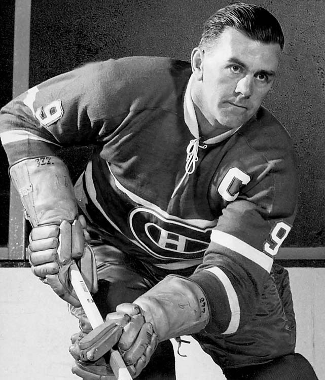 The Canadiens' legendary Hall of Famer was given 15 as a rookie in 1942, but the next year he switched to his now-retired 9 in honor of his firstborn child, a daughter who came into the world weighing nine pounds.