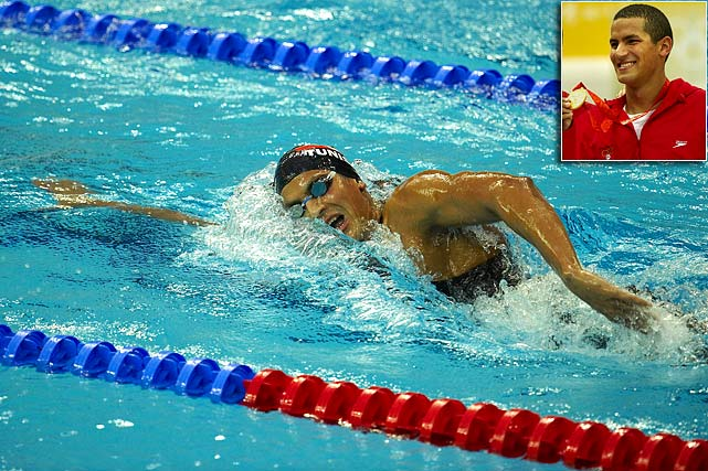 Mellouli is the reigning gold medalist in the 1500-meter freestyle. In his off-time, the Tunisian is a graduate coach at his alma mater Southern Cal. It's rumored that in 2012 he'll go after the 400-meter freestyle, an event he won the silver medal in during the 2009 World Championships.