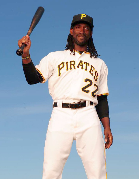 Rising star Andrew McCutchen continues to be the Pirates top player with his combination of power and speed.