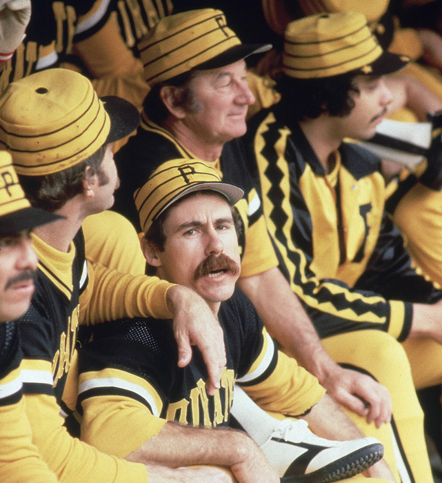 "Before managing the Astros into the 2005 World Series, Phil Garner was part of the ""We Are Family"" Pirates of 1979. The infielder chats with teammates during the World Series against the Orioles."