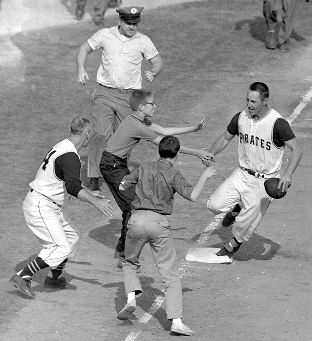 After a furious eighth-inning comeback by the Pirates, the Yankees tied Game 7 of the 1960 World Series 9-9. Bill Mazeroski then did what no one had ever done before, hitting a walk-off home run to win the title for Pittsburgh. He'd be elected to the Hall of Fame in 2001.