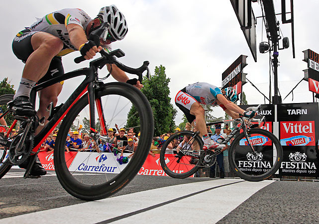 With Tyler Farrar's win in Stage 3, the mantle of best sprinter never to win a Tour stage fell on Andre Greipel. The German finally broke through by edging Cavendish, his former teammate.
