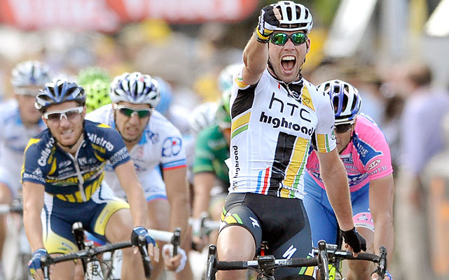 On a day his countryman Bradley Wiggins was forced to abandon the Tour due to a broken collarbone, Cavendish softened the blow for Britain with his second stage win in the first week.