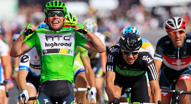 One last win for Mark Cavendish. The British sprinter closed the 2011 Tour on the Champs-Elysees with his 20th career stage win and his first career sprinters' title and green jersey. Cadel Evans sipped champagne as he rode to his first overall title.