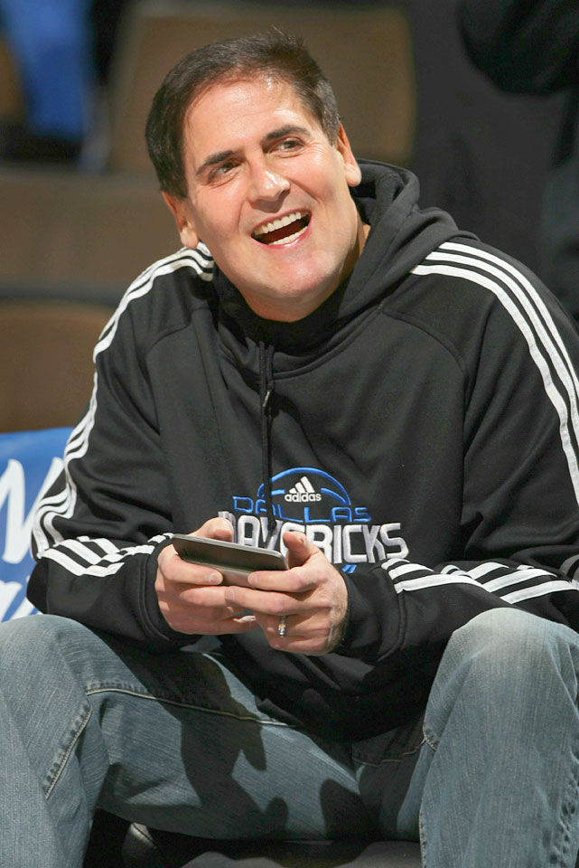 The outspoken owner of the Mavericks tweeted an open question shortly after his team's 103-101 victory over the Nuggets in March 2009:   how do they not call a tech on JR Smith for coming off the bench to taunt our player on the ground ?   The dispatch proved historic, with Cuban becoming the first person to be fined by a sports league for Twitter comments after the NBA charged him $25,000.