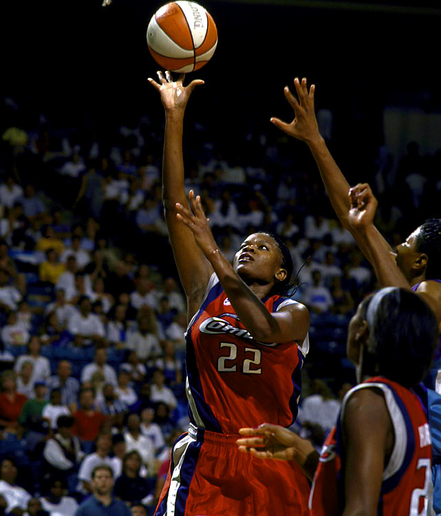 A Texas Tech product who's currently with the Tulsa Shock, Swoopes won four WNBA titles with the Houston Comets, three Defensive Player of the Year Awards, three WNBA MVP Awards and a pair of Olympic golds.