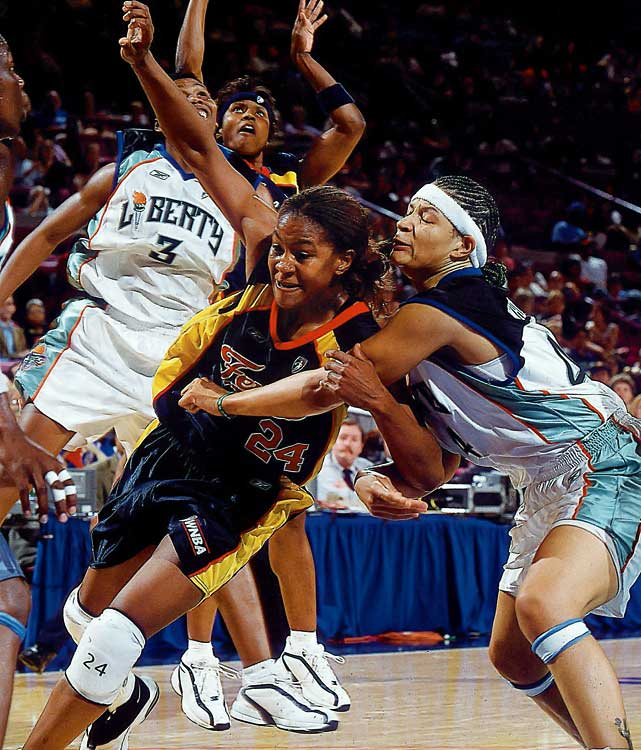 The 2002 WNBA Rookie of the Year, Catchings has made seven All-Star teams and is the four-time winner of the Defensive Player of the Year award. Twice an Olympic gold medal winner, she has played her entire career with the Indiana Fever. Catchings is one of many WNBA stars from the University of Tennessee.