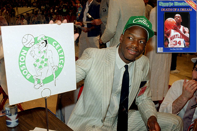 "Forty hours after the Boston Celtics drafted him No. 2 overall and fulfilled his ""greatest dream,"" 22-year-old former Maryland All-America Len Bias died from cardiac arrest caused by a cocaine overdose."