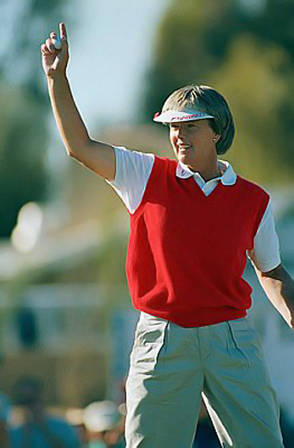 Bradley won three of the four LPGA majors in 1986 -- the Nabisco Dinah Shore, the LPGA Championship and the du Maurier Classic -- and, for good measure, finished tied for fifth at the fourth one, the U.S. Open, three strokes out of a playoff. Overall, Keegan Bradley's aunt won five events and became the first LPGA player to pass $2 million in career earnings.
