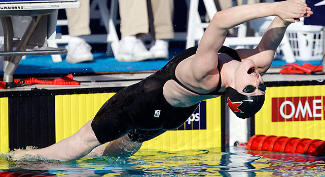 Franklin, 16, won five medals at the recent world championships, but these marked her first national titles. Her star status was confirmed at the Stanford pool.
