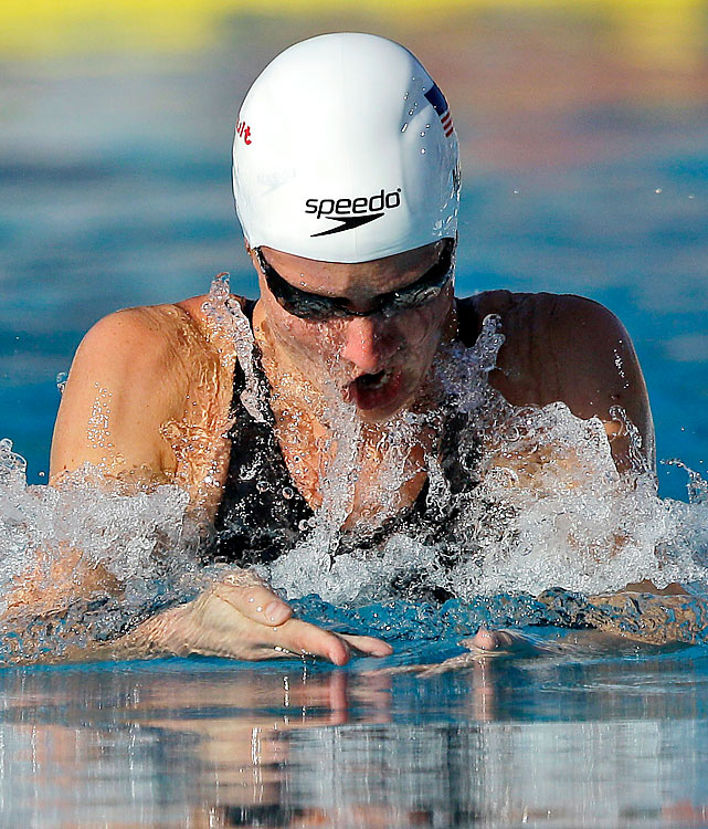 Hardy edged NCAA champion Ann Chandler by .36, though world champion Rebecca Soni did not swim the event.