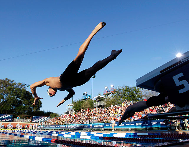 Adrian captured his third straight national championship in the splash and dash. Jason Lezak was fifth.