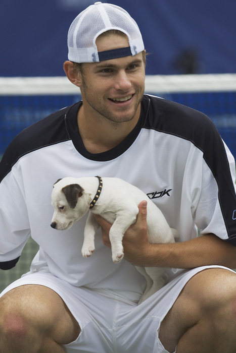 Roddick showed his softer side at the 2004 RCA Tennis Chapionships in Indianapolis, where he defeated Nicholas Kieffer  in the championship match.