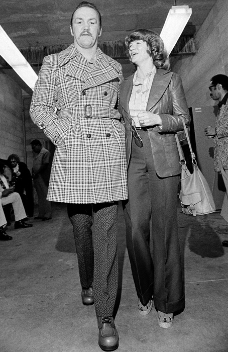 Wepner, who is believed to be the real life inspiration for Sylvester Stallone's Rocky character, and his wife Phylis arrive at Cleveland's Richfield Coliseum, for his weigh-in with heavyweight champion Muhammad Ali.