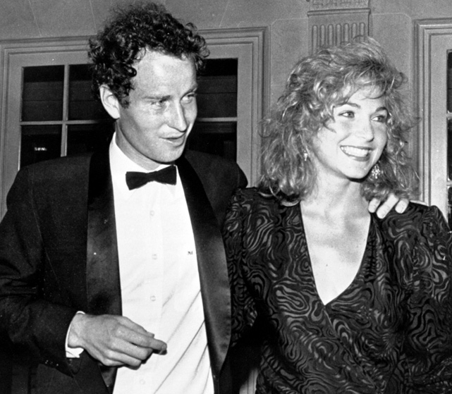 Known for his prickly demeanor on the court, John McEnroe captured the heart of actress Tatum O'Neal and the couple wed in the summer of 1986. The marriage lasted eight years; they have three children.
