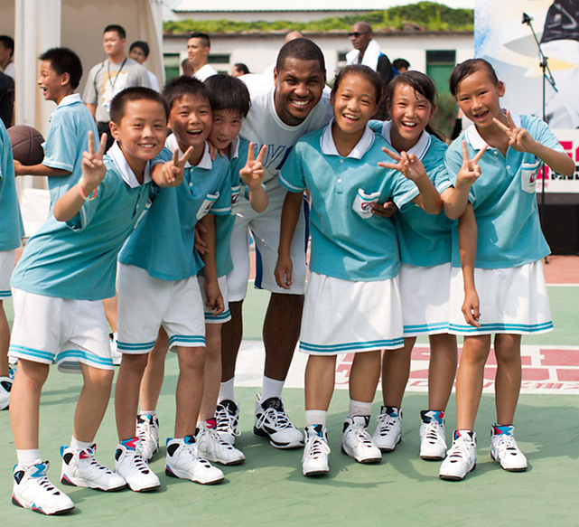 Carmelo Anthony, Chris Paul and Dwyane Wade visited China earlier this month as part of Nike's Jordan Flight Tour. Here are some photos of the three superstars on their trip to the far east.