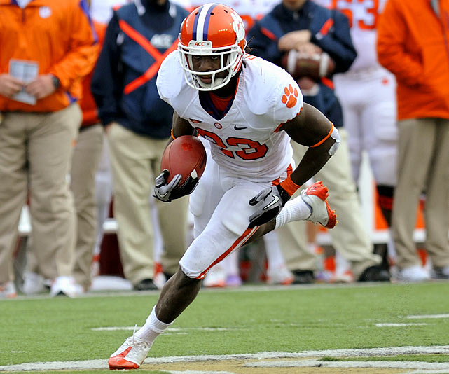 The 5-10 speedster posted four 100-yard games before suffering a season-ending foot injury that forced him to miss the Tigers' final five games. He maintains a career rushing average of 6.3 yards per carry.