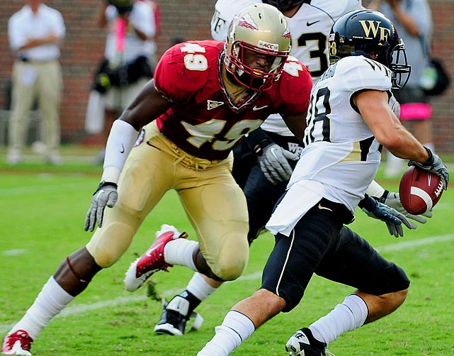 The preseason All-America piled up 21.5 tackles for loss last year, fourth in the nation and third in Florida State history behind Brodrick Bunkley and Darnell Dockett. Jenkins also notched five two-sack games, including in the Seminoles' 31-7 win over rival Florida.