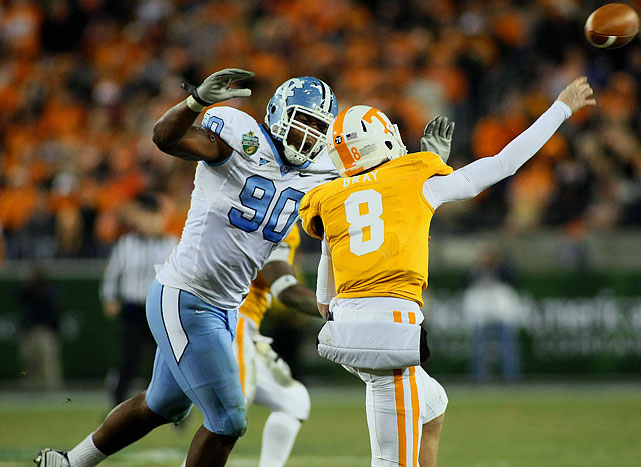 The 6-6, 285-pounder amassed sacks in five of the Tar Heels' final six games, ending the season with 10. He also registered 59 tackles -- 10 for loss -- to earn a spot on the preseason Bednarik Award Watch.