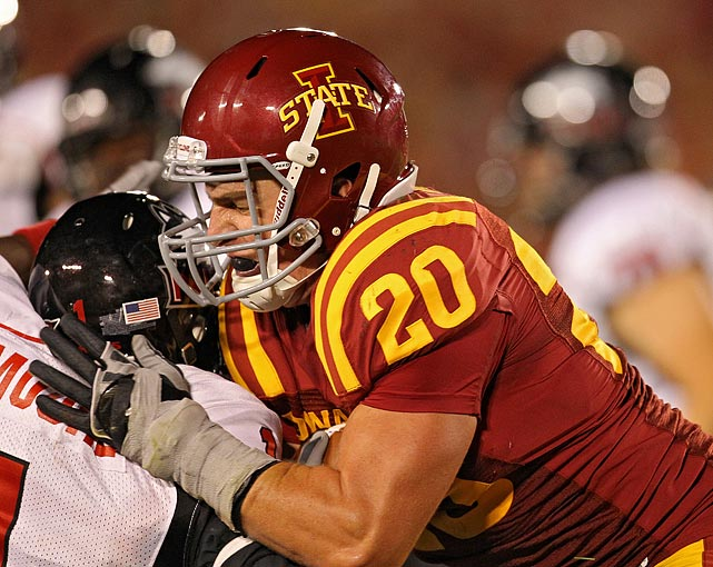 Knott, one of ISU's co-captains, averaged 10.8 tackles per game, second best in the conference, and had a career-high 16 tackles against Colorado in 2010.
