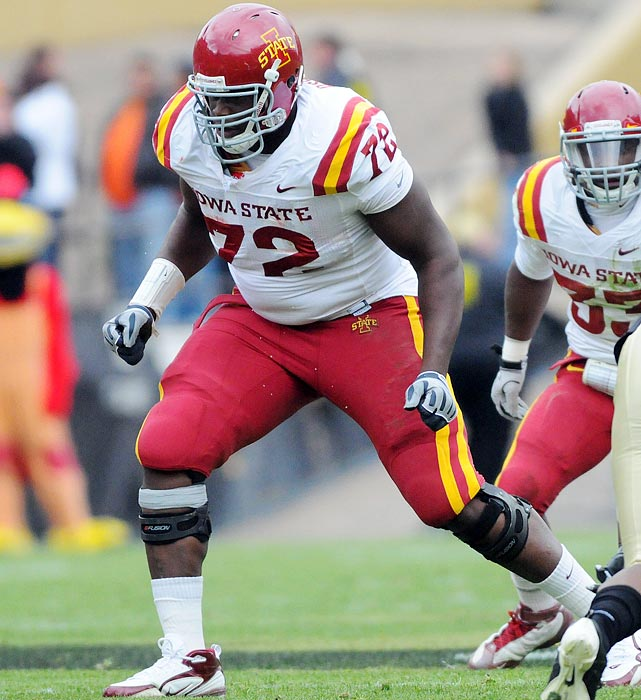 A two-time All-Big 12 honoree, the 6-6, 347-pound mammoth made it onto several early 2012 NFL draft first-round projections.