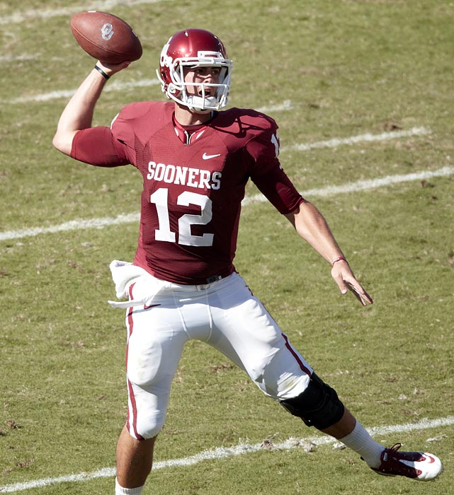 A potential Heisman Trophy candidate, OU's 24-game starter ranked second nationally last season in passing yards (4,718) and set school records for both completions (405) and attempts (617).