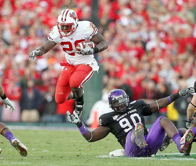 The 5-11, 214-pound Ball averaged 155.4 yards over the Badgers' last five games of 2010, including 132 against TCU in the Rose Bowl.