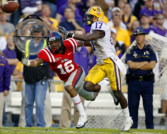 An able ball hawk (five picks in 2010), the 6-foot, 177-pound Claiborne should continue, and expand upon, his excellent play even in the absence of departed All-America cornerback Patrick Peterson.