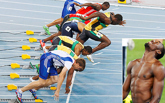 The world's fastest man shocked everybody by bolting out of the starting blocks just a bit too early. Usain Bolt was disqualified from the 100-meter final under a controversial false-start rule amended in 2010 by the IAAF. Previously, the first false start in a sprint would be a warning to the entire field and any subsequent false starts would result in DQs. Now, there are no warnings. All false starts are grounds for expulsion. Bolt actually false started in the semifinals of the 2009 world championships under the old rule, so he received a warning and stayed in the race.    Video of Bolt's false start