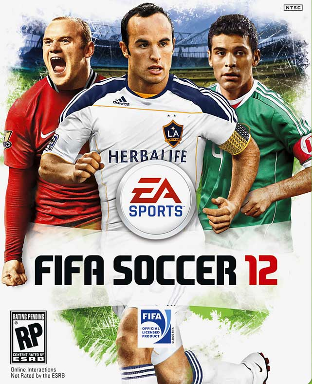 EA has teamed up an impressive trio for the cover of its newest soccer title. The cover features Manchester United striker Wayne Rooney, LA Galaxy midfielder Landon Donovan and Rafael Marquez of Mexico's national team. FIFA Soccer 12 is scheduled for a September 27 release on the Xbox 360, PS3, Wii, PSP, 3DS and PS2.