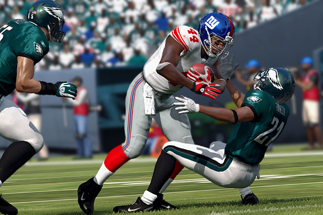 The most popular sports franchise in all the land takes its game to the next level yet again, just don't expect to be blown away by one single element of this year's build. Instead of breaking out an entirely new mode or game-changing new feature, Madden NFL 12 chose instead to sprinkle a variety of solid upgrades throughout the game.  For Franchise Mode you get the new Dynamic Player Performance. Instead of your players behaving like robots throughout the course of the season, this year, your players' ratings will fluctuate from week to week based on confidence and consistency. The feature brings the game one step closer to becoming as real as the games you watch ever Sunday.  Online Communities let you create or join groups of up to 2,000 players where you set the rules and play with like-minded gamers. It's all a great response to help honest gamers monitor cheaters and quitters who affect online stats.  There are over 100 new big-hit animations incorporated into gameplay, plus 32 team-specific stadium intros, Soldier Field for the first time, and 3-D grass graphics. The game also worked with NFL Films to roll out real-life broadcast camera angles for a presentation like we've never seen before.  NFL Madden 12 is definitely a step in the right direction and you will spend countless hours running your own franchise. Still, without a game-changing new feature this year, hardcore fans of the franchise will be anticipating something huge for next season.  Score: 8.5 out of 10