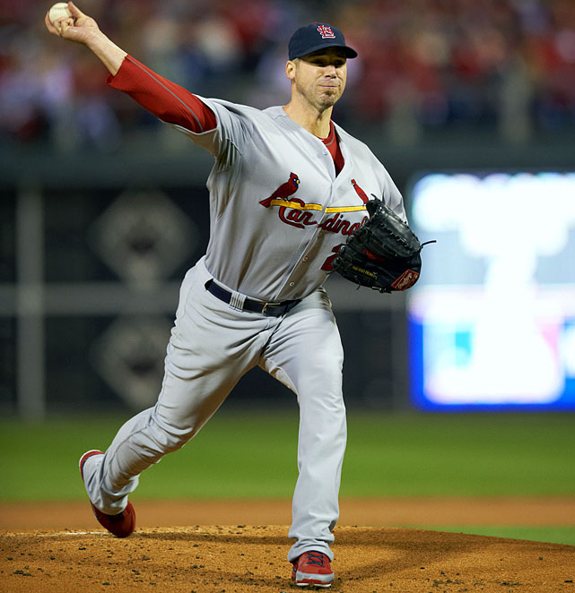 St. Louis brought its ace back on three days after he threw a gem in the regular season finale. Carpenter was solid in the Cardinals' 5-4 win in Game 2, but the real reason the decision was important is that it enabled St. Louis to bring him back on full rest for Game 5, where Carpenter outdueled Philadelphia ace Roy Halladay in the 1-0 victory for St. Louis. He was only the sixth pitcher in the past 30 years to throw a shutout in a decisive game.