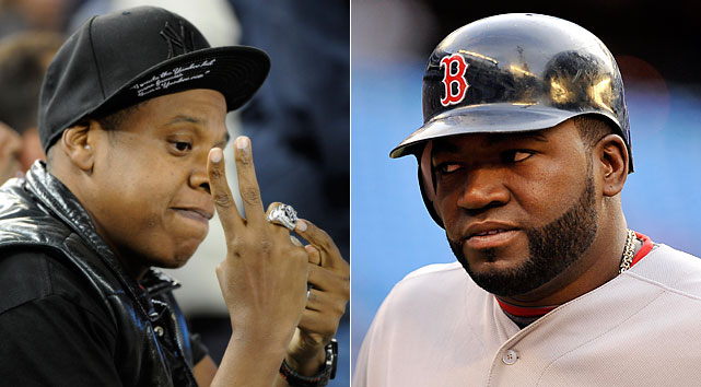 "In April 2010, Jay-Z and his business partner sued David Ortiz for $5 million after the Boston slugger opened a nightclub in the Dominican Republic called ""Forty/Forty,"" a name Hova's clan deemed too close to his ""40/40"" club in New York. The name for Jay-Z's sports lounge was in reference to the exclusive baseball club of 40 home runs and 40 stolen bases in a single season. (Mind you, Ortiz is currently in his 15th season and only has 11 stolen bases over his career.)  The two sides ended up settling out of court ... which is to say: In the lengthy history of Yankees-Red Sox feuds, this was one of the weakest."