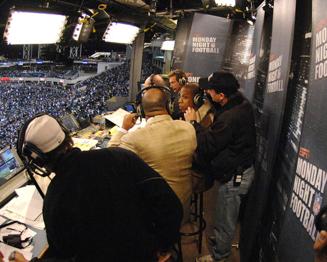 Jay-Z joined the crew of ESPN's Monday Night Football during a 2006 game between the Jaguars and Giants.