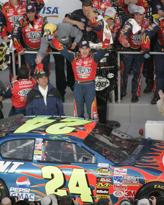 In 2005 Gordon became the fifth driver in history to win the Daytona 500 three times.