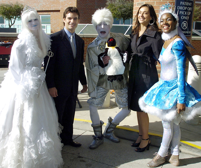 A costumed dance group performed at the opening ceremony for the Jeff Gordon Children's Hospital in Concord, N.C., in 2006.