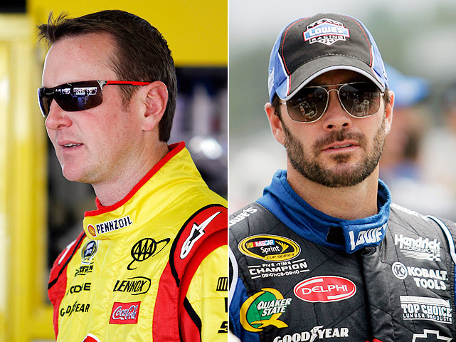 "The Johnson-Busch feud has been brewing for more than a year, and the rivalry was rekindled after some pushing and shoving at Pocono on Aug. 7. Of Busch, Johnson said: ""He's a big crybaby and wants to take shots at me when he can. He's good for running his mouth. He can keep running it. I'll shut it for him."" With both drivers in contention for the title, we haven't heard the last of this feud."