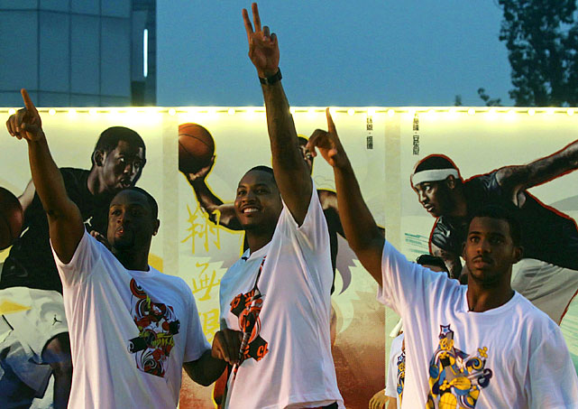 The Jordan Brand crew toured China, hosting camps and clinics for youth players and promoting MJ's shoes.