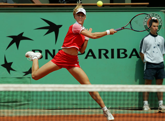 The Russian overcame her famously unreliable serve and shaky nerves to win 16 titles and ascend to No. 3 in the world, but she failed to cash in on two trips to major finals. In the 2004 French Open final, Dementieva double-faulted 10 times and committed 33 unforced errors in a 6-1, 6-2 loss to Anastasia Myskina. In the U.S. Open final that same year, Dementieva struggled with a thigh injury and lost to Svetlana Kuznetsova 6-3, 7-5.