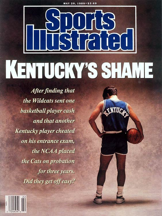 1989 was not a kind year to Kentucky basketball. After finishing a miserable 13-19 -- the team's worst season since 1927 -- it was revealed that the Wildcats committed a number of NCAA violations. Assistant coach Dwayne Casey sent $1,000 to the family of freshman Chris Mills, and the program was found guilty of illegally assisting Eric Manuel on his college entrance exams. As a result, Kentucky was hit with a two-year postseason ban.