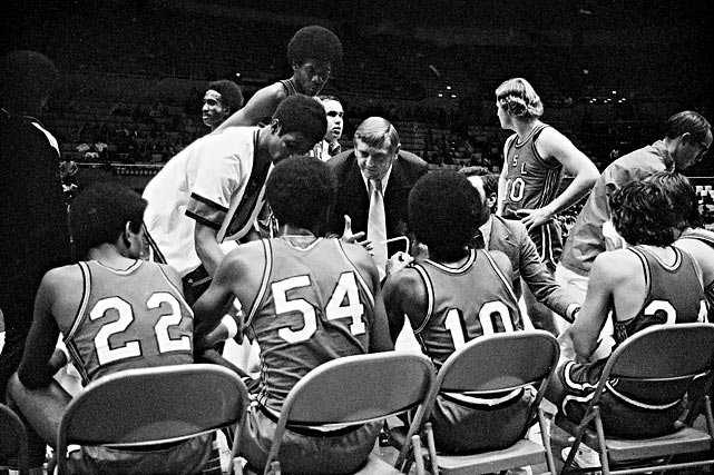"Southwestern Louisiana could seemingly do no right following the 1972-73 NCAA season. An investigation discovered the Ragin' Cajuns guilty of multiple recruiting and financial aid violations, with outsiders supplying scholarship money for several of the team's players. That wasn't the worst of it. The program also allowed players below the minimum 1.6 GPA to compete on five separate occasions, drawing the dreaded ""Death Penalty,"" or a ban on all competition, for two subsequent seasons."