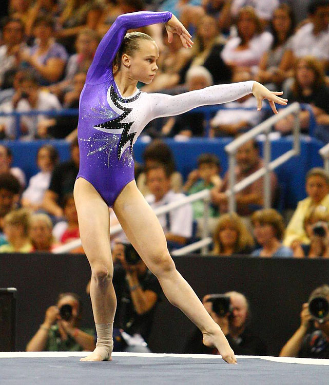 A pupil of Valeri Liukin, Bross has been the best U.S. gymnast since the Beijing Olympics. She won all-around silver and bronze medals at the 2009 and 2010 world championships, respectively, but ankle surgery kept her out the last 10 months. She is the defending U.S. all-around champion.