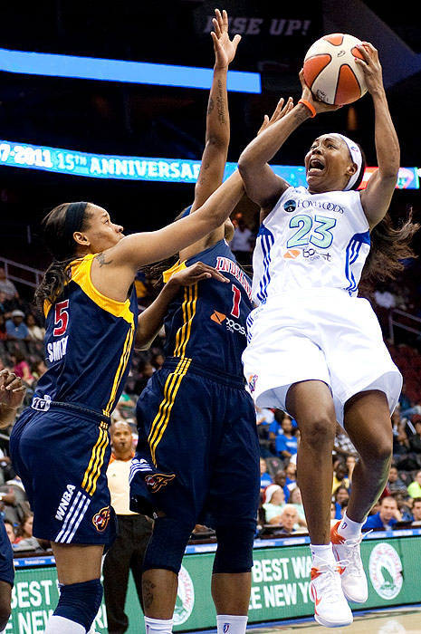 The Liberty ended the regular season on a high note, winning six of their last nine games. New York's guard Cappie Pondexter (right) leads her team in both scoring (17.4 ppg) and assists (4.7 apg) for the season.