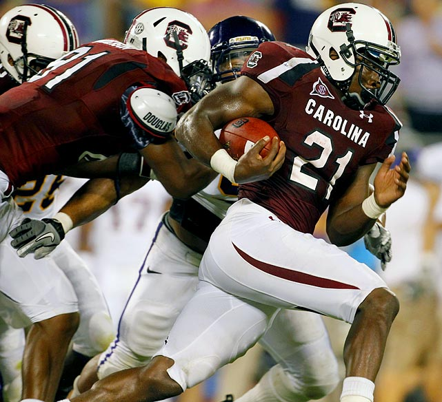 Last week:  23 rushes for 112 yards, three TDs; three receptions for 33 yards in 56-37 win over East Carolina.  After a sluggish start, which included just the second fumble of his Gamecocks career, Lattimore turned it up in the second half, running 13 times for 72 yards and two TDs. Just one game into his second season, he's eight on South Carolina's all-time TD list (20). This week he returns to the matchup that was his national coming out party as S.C. faces Georgia. He could be in for another big day after an already suspect Bulldogs defense will be without one of its key pieces after middle linebacker Alec Ogletree broke his foot in the opener.   Next up:  Saturday at Georgia