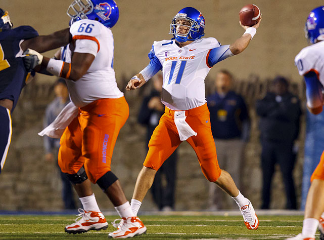 Last week:  32-of-42 passing for 455 yards, five TDs and one INT; two rushes for two yards in 40-15 win over Toledo.   Season:  60-of-76 passing for 716 yards, eight TDs and two INTs; two rushes for two yards.  This was Moore at his surgical best. In the first half alone, he shredded the Rockets for 298 yards and three TDs on 19-of-23 passes for a QB rating of 234.4. He finished with a career-high 32 completions, his fourth career five-touchdown game and he went over 400 yards for the first time in seven games. Moore could have a similarly gaudy statistical day this week. Tulsa had its fill of elite QBs, allowing 375 yards and a score vs. Oklahoma's Landry Jones and 369 yards, while Oklahoma State's Brandon Weeden registered 369 yards and three TDs.   Next up:  Saturday vs. Tulsa