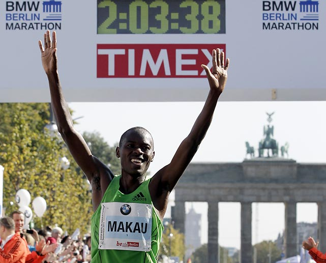 It's still the fastest marathon on earth. The last four marathon world records have been set at Berlin. Patick Makau of Kenya broke Ethiopian legend Haile Gebrselassie's 2008 record by 21 seconds on Sunday.