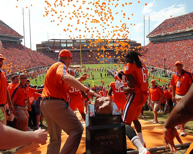 Clemson Memorial Stadium has been a fine place for upsets. Dabo Swinney's squad didn't show any hangover from an emotional win over Auburn last week. The Tigers surprised Florida State 35-30.